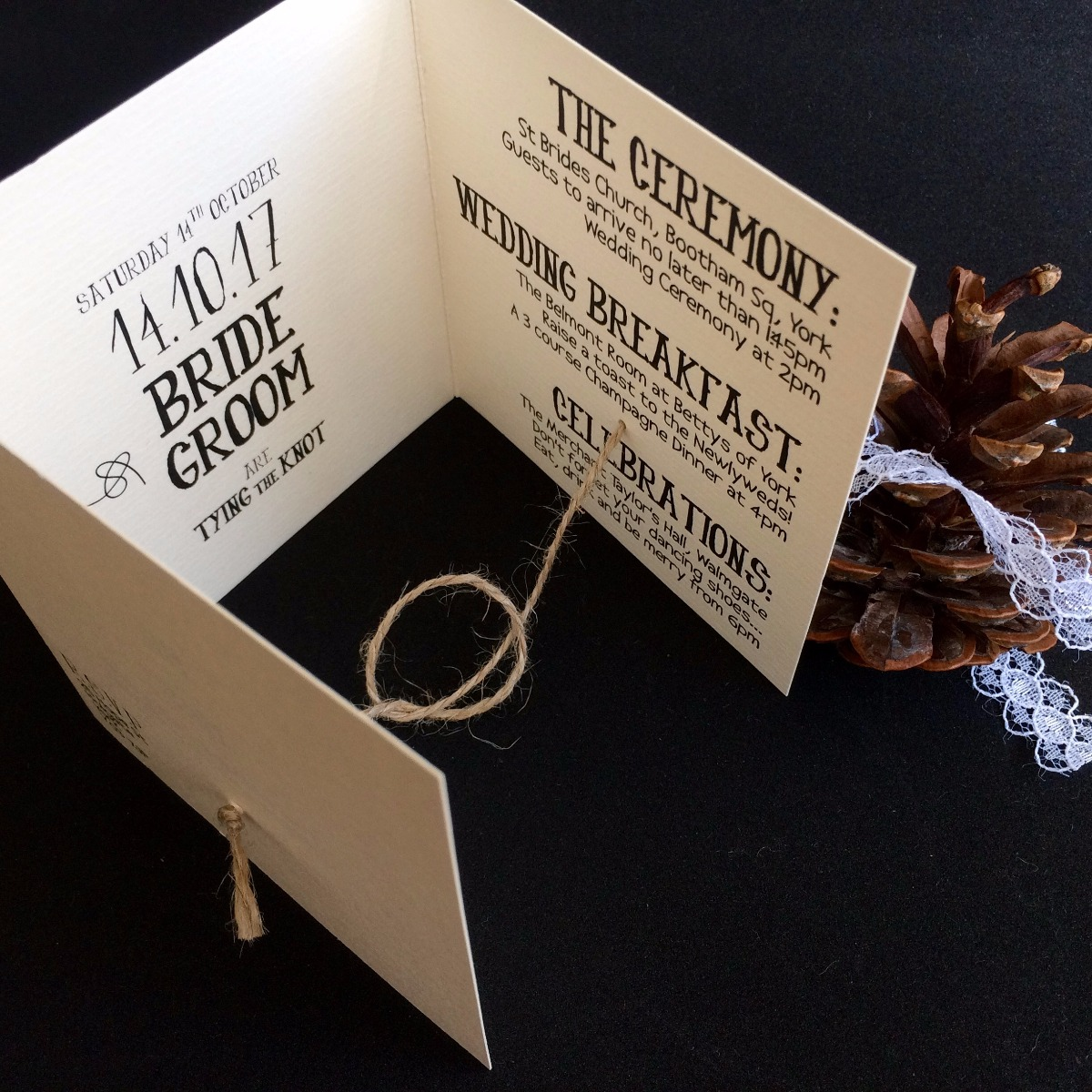 Ivory 'Rustic' Invitations